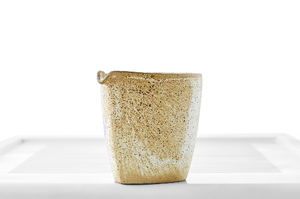 Speckled Yellow Glazed Oblong Tea Pitcher (Cha Hai)