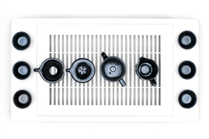 Dark Glazed Set For Traditional Chinese Tea Ceremony